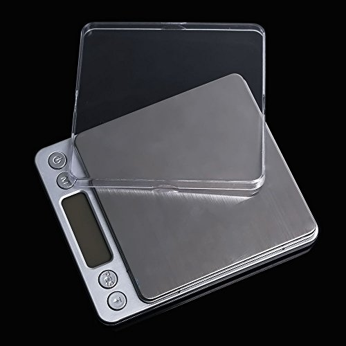 Zipom Pocket Scale- Portable Digital Scale with Back-lit LCD Display, Elite Digital Pocket Scale500 x 0.01g, Mini Digital Weighing Scale Ideal for Weighing Gems, Jewelry and other Precious Objects - Silver