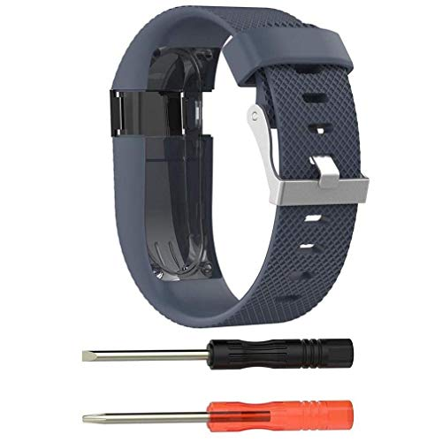 Fashion Clearance! Noopvan FB Charge HR Strap + Protector Film,Replacement Silicone Sport Band Rubber Strap Wristband Bracelet for FB Charge HR (Dark Blue) ...