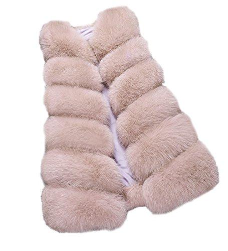 FOLOBE Faux Fur Camel Veste Femme Manteau Veste rqRC8Snwr