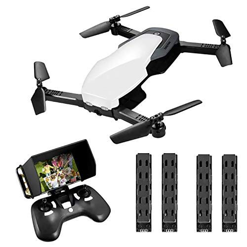 FPV RC Drone for Kids with Camera Rechargeable Folding Drone Quadcopter for Beginners Adults WiFi Live Video Feed 720P HD Square or Indoors (Battery Delivery)