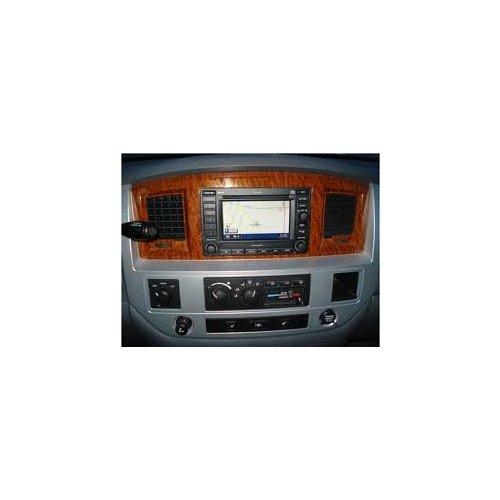 Mopar 5JZ131Z2AD Dodge Ram Laramie Woodgrain and Satin Silver Navigation Radio Bezel ()