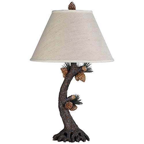 Table Lamps 1 Light Fixture with Eergreen Finish Resin Material E26 17