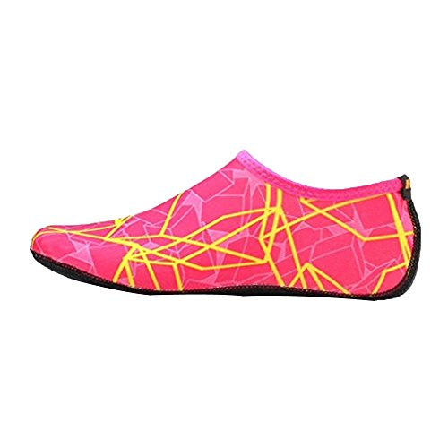 ZYUPUP Unisex Yoga Socks Outdoor Water Sport Diving Swim Snorkeling Beach Shoes (US:5.5-6, Hot Pink)