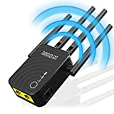 MSRM US754 Long Range Extender 1200Mbps WiFi Repeater Signal Amplifier Booster with 4 Band Antennas...