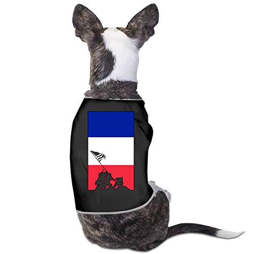 France Flag Veteran Military Army Dog Vest Clothes Pet Sleeveless T Shirt Jacket Sweater