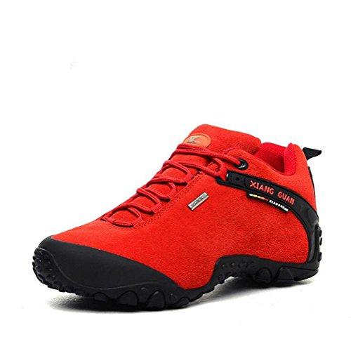 Chaussures de randonnée en cuir givré pour hommes / dames chaussures de sport de mode pour le trekking camping alpinisme