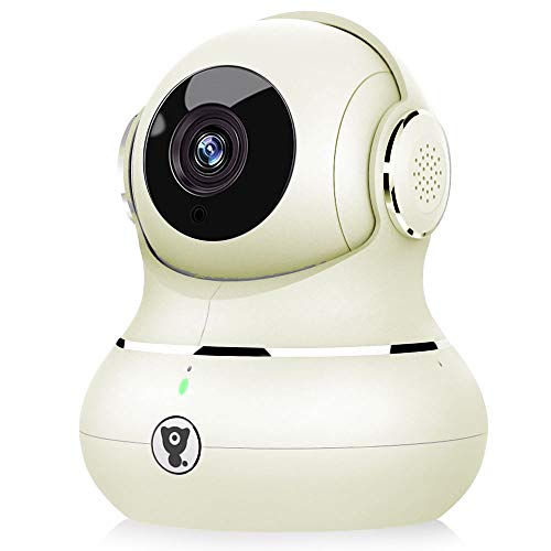 Home Camera - Littlelf Smart 1080P Pet Camera 2.4Ghz WiFi Indoor Camera with Panoramic Navigation, Night Vision & Two-Way Audio, Indoor Surveillance Baby Dog Camera with Cloud Storage