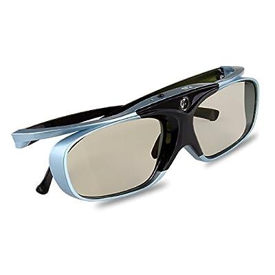 3D Glasses, APEMAN DLP Series Glasses Rechargeable Hi-Brightness/Hi-Contrast Compatible with All DLP 3D Projectors
