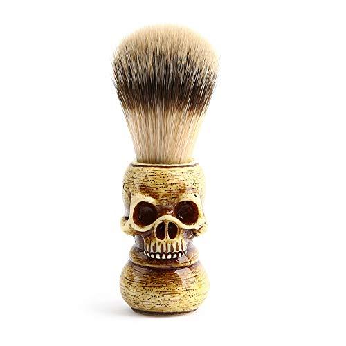 Men Shaving Brush Resin Skull Head Skeleton Natural Resin Handle Makeup Brush Barber Tools For Men -