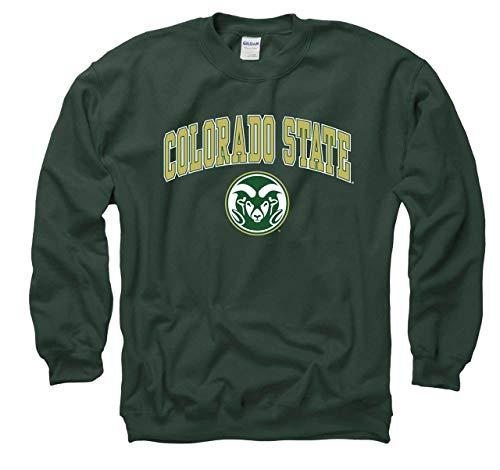 (Campus Colors Colorado State Rams Arch & Logo Gameday Crewneck Sweatshirt - Green, Small)