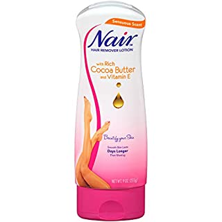 Nair Hair Remover Cocoa Butter Hair Removal Lotion, 9.0 oz. , Pack of 3
