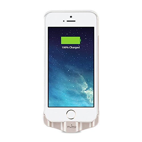 BB1IPHONE5GOLD Puro Schutzhülle mit Akku 2.200 mAh, für iPhone 5/5S, goldfarben