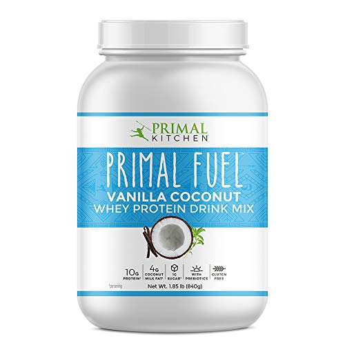 Coconut Milk Protein - Primal Kitchen Primal Fuel Vanilla Coconut Whey Protein Powder- Updated Contains No Soy - 10 grams of Protein (1.86 lbs)