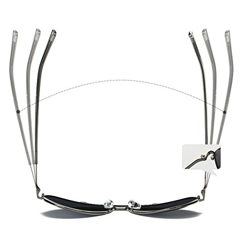 Gafas UV400 marco YUFENRA Para plata de lente Sol y de Aviador Antirreflejante Lente plata Para Completo Hombre Mujer IqIpX