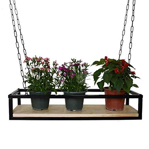 GQSHK American-Style Wall Flower Racks|Bar Cafe Ceiling Mounted Hanging Metal Storage Shelf Vintage Suspended Plant Decorative Organizer Holder Adjustable ()