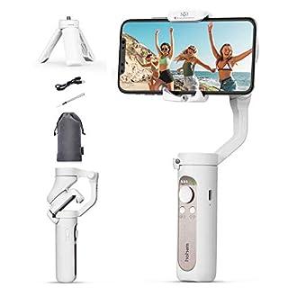 HohemiSteadyXSmartphoneFoldable3-Axis GimbalHandheldStabilizer CompatibleforiPhone11ProMax/11/XsMax/XS/XRw/Huawei P30/P40 Auto Inception/DollyZoom/Time-LapseforVlogYoutuberLiveVideo