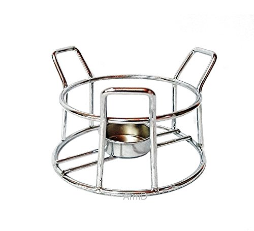 Fondue or Butter Warmer Stove intensified with Chrome Plated Steel Stands