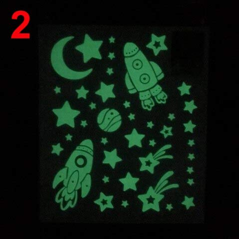 Luminous Glow In The Dark Moon Star Wall Sticker Home Art Diy Decor Kids Room Decal - Wall -