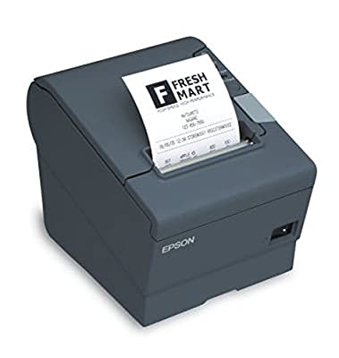 Epson C31CA85A6331 TM-T88V Thermal Receipt Printer with Power Supply, Energy Star Rated, Ethernet and USB Interface, Black