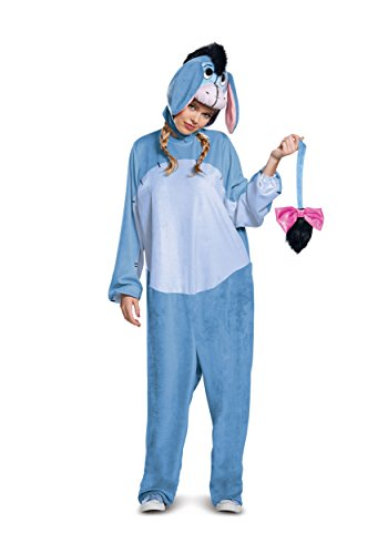Disguise Deluxe Eeyore Adult Jumpsuit Costume with Embroidered Face X-Large Blue]()