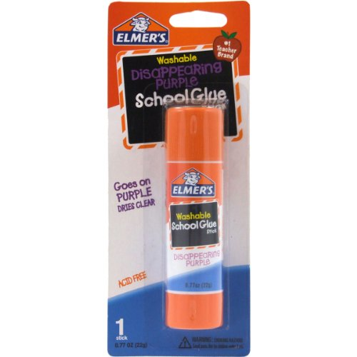 Elmer's Disappearing Purple School Glue Stick, 0.77 oz, Single Stick (E523) ()