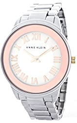 Anne Klein Women's Rose Gold-Tone Dial AK/1755SVRT Quartz Watch