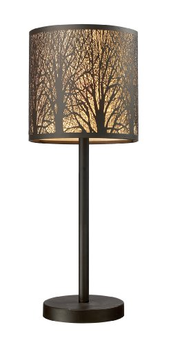 Elk 31072/1 Woodland Sunrise 1-Light Portable Lamp In Aged Bronze