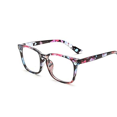 Tocoss (TM) Rétro Squre Transparent Lunettes pilote Cadre pour femme Œil de chat Lunettes pour homme Cadre clair Lunettes en forme de lunettes optique Eyewear, léopard