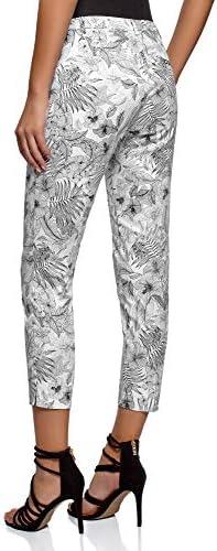 oodji Collection Mujer Pantalones de Algodón Estrechos: Amazon.es: Ropa y accesorios
