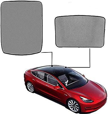 omotor Tesla Model Sunshade Glass Roof Mesh Sunshade