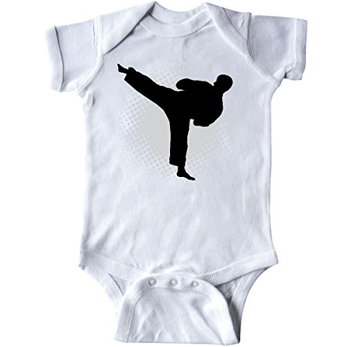 inktastic Karate Martial Arts Silhouette Sports Infant Creeper 6 Months White