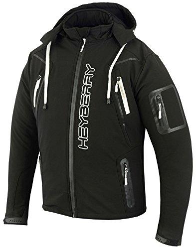 HEYBERRY Soft Shell Motorradjacke Textil Schwarz/Weiß Gr. XL