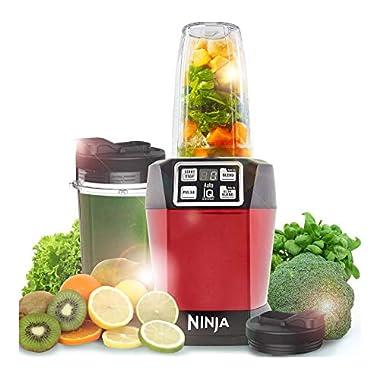 Nutri Ninja Auto-IQ Blender, 1000W, 1 Jar (Red) 6