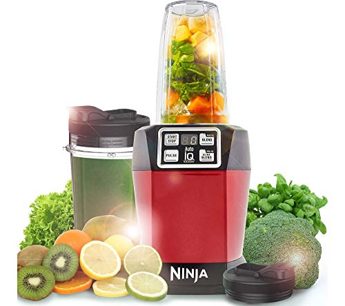 Nutri Ninja Auto-IQ Blender, 1000W, 1 Jar (Red) 1
