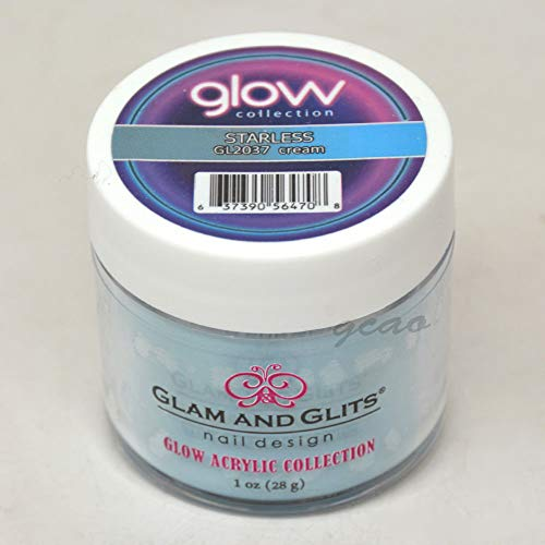 Glam and Glits ACRYLIC Glow in the Dark Nail Powder - Starless 2037