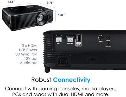 Optoma HD143X Video - Proyector (3000 lúmenes ANSI, DLP ...