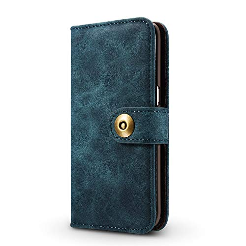 amp; Slots Detachable Flip Removable Galaxy Sony Wallet Credit Card Samsung Iphone Cover Blue Se Sitco Back Vintage Retro Case Leather Phone OwHfn6x4q1