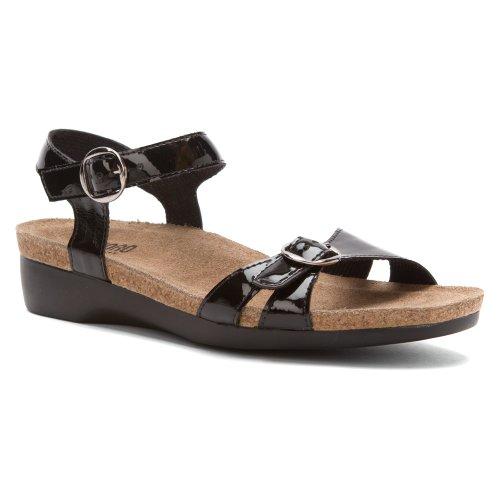 Munro American Women's Donna Black Patent Sandal 9 M (B)