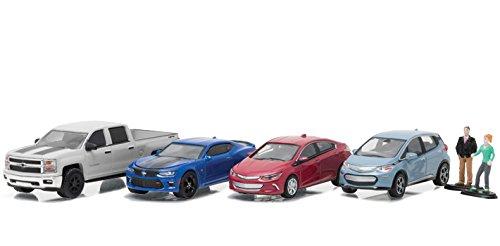 motor-world-diorama-set-chevrolet-dealership-6pcs-set-1-64-by-greenlight-58034