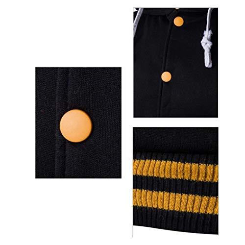 Cappotto Sportiva Giacca Cappuccio Leey Lunghe Lunga Da Taschino Per Giallo A Con Felpa Manica Uomo Maniche dUnxpgx