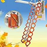 Loft Wall Ladder Stairs Wall Mounted Attic Extension Ladder Orange-White New