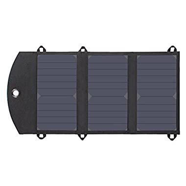 Solar Charger, Foval High Efficiency Lightweight Portable Cell Phone Waterproof Solar Charger (14W 2-Port USB Solar Pannel Chargers) with SUNPOWER Solar Cells for iPhone 6s / 6 / Plus, iPad Air / mini, Galaxy S6 and More