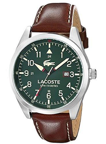 01635b180eac Lacoste Hombre Reloj de Pulsera analógico Cuarzo Piel 2010781  Lacoste   Amazon.es  Relojes