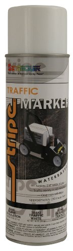 Seymour 20-642 Stripe Water Base Traffic Marker, White