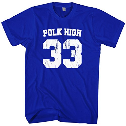 Al Bundy Costume (Mixtbrand Men's Polk High Football T-shirt L Royal)