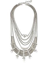 Lucky Brand Major Bib Silver-Tone Necklace