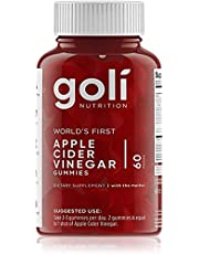 "Goli Nutrition World's First Apple Cider Vinegar Gummy Vitamins, 1 Pack - (60 Count, Organic, Vegan, Gluten-free, Non-Gmo, With ""The Mother"", Vitamin B9, B12, Beetroot, Pomegranate)"