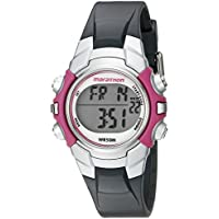 Marathon by Timex Women's T5K646 Digital Mid-Size Gray/Pink Resin Strap Watch