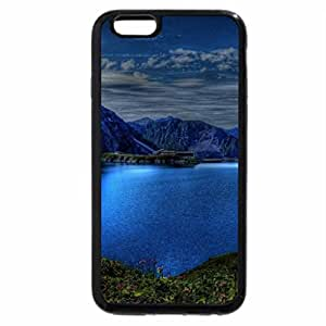 iPhone 6S Plus Case, iPhone 6 Plus Case, blue mountains around a lake hdr
