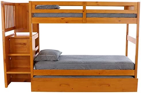 home, kitchen, furniture, bedroom furniture, beds, frames, bases,  beds 11 image Discovery World Furniture Mission Twin Over Twin Staircase in USA